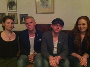 Från vänster: Johanna And, Emil Claesson, Jonas Lundgren, Jessica Schedvin. Frånvarande: Sandra Rosenälv